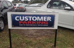FTG Holden Customer Parking Sign